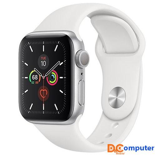 Apple Watch Series 5 GPS, 40mm viền nhôm bạc dây cao su trắng MWV62VN/A