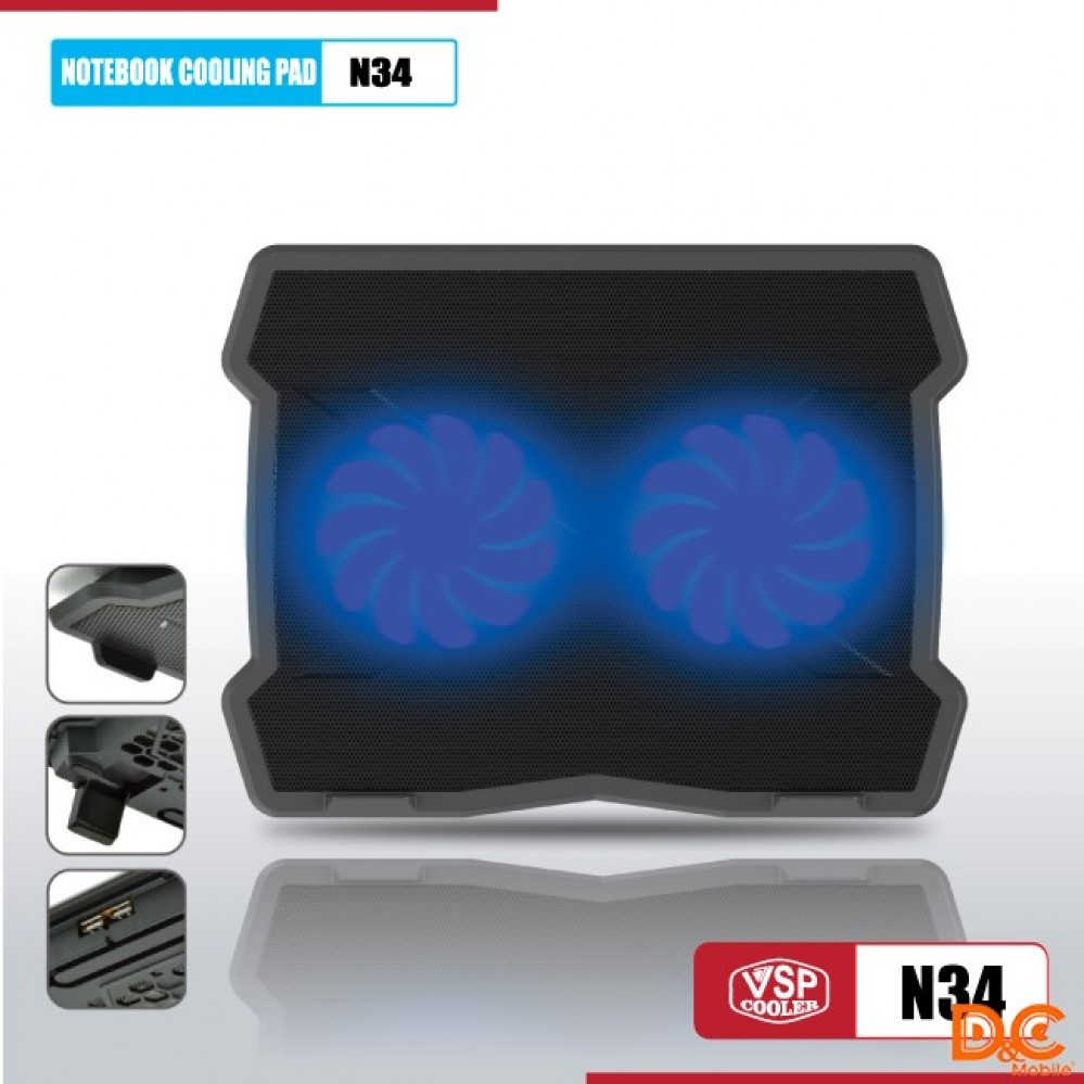 Fan -  Laptop VSP Cooler N34  LED