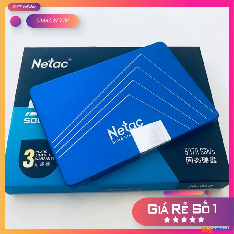 Ổ Cứng SSD 120G SATA III NETAC N500S - Hàng Chính Hãng - Bảo hành 36 tháng - DC Mobile