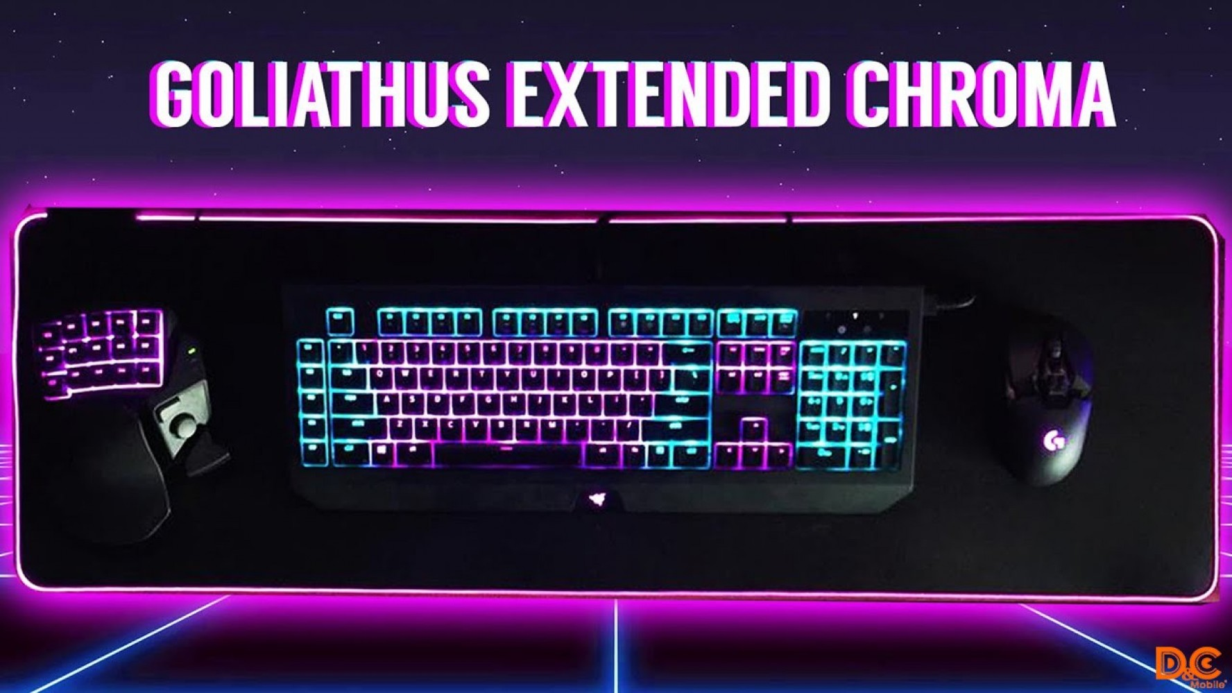 Razer Goliathus Extended Chroma - Soft Gaming Mouse Mat with Chroma - Quartz