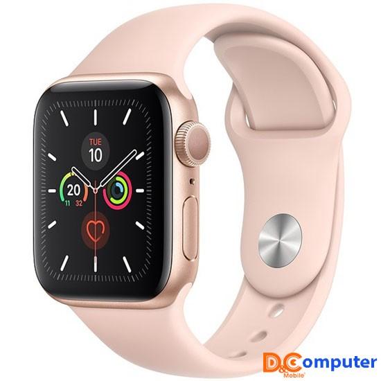 Apple Watch 5 40mm (GPS) Viền Nhôm Vàng - Dây Hồng Chính hãng (MWV72)